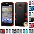 For ZTE Uhura N817 Hybrid TUFF IMPACT Phone Case Hard Rugged Cover