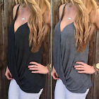 Sexy Women V-neck Summer Casual Vest Tops Sleeveless Blouse Tank Tops T-Shirt BD