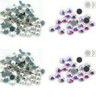 High Quality Crystal & AB Flatback Hotfix Glass Rhinestones Diamante- Choose