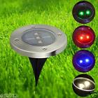 Solar Powered LED Buried Inground Recessed Light Garden Outdoor Deck Path Lamp