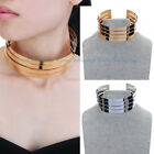 Fashion Jewelry Gold Silver Metal Chain Punk Collar Statement Bib Bold Necklace