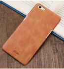 Mofi Business Vintage Comfort Leather Hard Matte Skin Case Cover For OPPO Phones