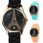 Women Fashion Eiffel Tower Rhinestone Round Dial Analog Quartz Wrist Watch Hot