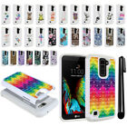 For LG K10 Premier LTE L62VL L61AL Crystal Bling HYBRID Case Phone Cover + Pen