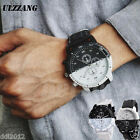 Watch Analog Leather Wristwatch Fashion Business Men's Casual Quartz Large Dial