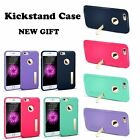 """Metal Kickstand Case Shockproof  Slim Soft TPU Matte Cover  For iPhone 6/6S 4.7"""""""