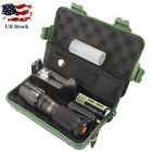 8000LM Cree XM-L T6 LED Zoom Tactical Flashlight Torch Lamp 18650 Charger lot