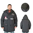 Canada Weather Gear Men's Faux Goose Down Expedition Long Parka Jacket Coat
