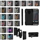For HTC Desire 630 Hybrid Dual Layer Shell Shock Case With Built-in Kickstand