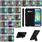 For Samsung Galaxy J3 | Express | Amp Prime | J3V | Sol Dual Layer Case + Stand