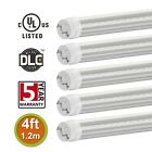 5x T8 4ft 18W LED Tube Light 6000K 4000K Replaces 32-48W Fluorescent Clear Cover