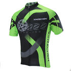 XINZECHEN Bicycle Short Sleeve Shirt Green Cycling Jersey Tops Size S-3XL
