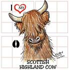 Scottish Highland Cow Ladies Tshirts or Nightshirt 7496 kiniart farm art