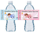 20 SLEEPING BABY SHOWER WATER BOTTLE LABELS GLOSSY