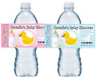 20 RUBBER DUCKY DUCK BABY SHOWER WATER BOTTLE LABELS GLOSSY
