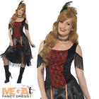 Saloon Girl Ladies Fancy Dress Wild Western Can Can Adults Burlesque Costume New