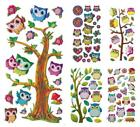 SOFTY STICKER CREApop Hobbyfun 3D Aufkleber Scrapbooking Motive Vögel EULEN