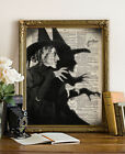 WICKED WITCH Wizard OZ Dictionary Art Print Vintage Halloween Poster