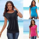 New Womens  Short Sleeve Loose T-Shirt Ladies Summer Casual Tops Blouse ED