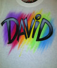 Airbrush T-Shirt Personalized Multi Color Name size S M L XL 2X Airbrushed Shirt