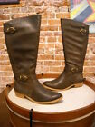 Bare Traps Tommy Dark Brown Wide Calf Buckle Detail Riding Boot New