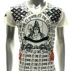 w63 Japanese Irezumi Tattoo VNECK T-shirt God Hindu Vishnu Trimurti  Soft Cotton