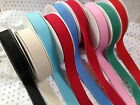 'STITCH EDGE' Grosgrain ribbon - 25mm - Various lengths / 17 colour combos NEW!!