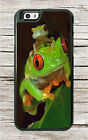 FROG RED EYE AND SON CASE FOR iPHONE 6 or 6 PLUS -pgh6X