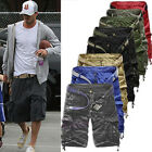 Mens Cargo Shorts Summer Army Combat Camo Work Short Trousers Pants 3/4 Fashion