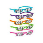 80s 'Zebra Print' Bright Neon Sunglasses Various Colours