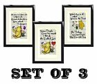 Set of 3 Winnie The Pooh Piglet Vintage Dictionary Book Art Prints Pictures No4