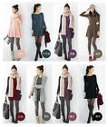 New Fashion Women Crew Neck Long Sleeve Slim Solid Casual Winter Spring Dress