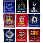 Official Football - Metal Window SIGN 14cm x 12cm (Nickname/Crest) (All Teams)