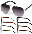 New Khan Mens Womens Designer Fashion Sunglasses Shades Metal Pilot Retro Lion