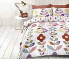 Lulu Multi Retro Floral Printed Single Double King Bed Duvet Cover Set Rapport