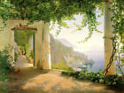 Handmade Oil Painting repro  Carl Frederic Aagaard View to the Amalfi Coast