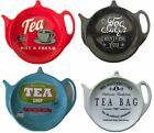 Melamine Teapot Shape Tea Bag Holder Tidy or Large Spoon Rest Stand - Various