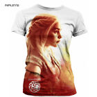 Official Ladies T Shirt Game of Thrones DAENERYS Targaryen Sub. White All Sizes