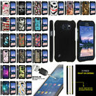 For Samsung Galaxy S6 Active G890 Slim Fitted Hard Snap On Case + Tempered Glass