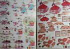 A4 3D Paper Tole Sweet Summer Patisserie Cake Flowers Birds Chocolate Hearts NEW