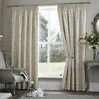 Period style Damask THERMAL Curtains Lined Jacquard CREAM IVORY 46 66 90 108