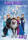LARGE A4 FOLDED PERSONALISED 'FROZEN' BIRTHDAY CARD - ALL CHARACTERS