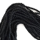 "Matte Black Onyx Round Beads Gemstone 15"" Strand 4mm 6mm 8mm 10mm 12mm"