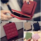 Fashion Women Mini Leather Bifold Wallet Zipper Card Holder Purse Handbag Clutch