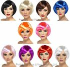 Smiffys Short Babe Bob Wig 20s 60s 70s 80s Ladies Fancy Dress Costume Accessory