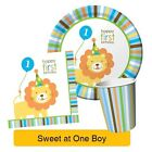 SWEET AT ONE BOY 1st First Birthday Party Range - Tableware Supplies Decorations