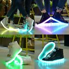 High Top LED USB Light Up Unisex Shoes Trainers Sneakers Flat Luminous Sneaker 2
