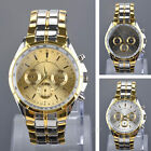 Luxury Wristwatches Fashion Mens Stainless Steel Quartz Analog Sport Wrist Watch