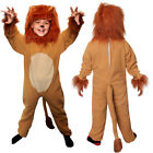 CHILDS LION COSTUME KIDS KING OF THE JUNGLE BOOK CHARACTER  FANCY DRESS ONESIE