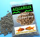 Aquariux goldfish colour enhancing pellets added fruit amino gold fish feed